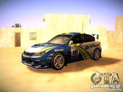 Subaru impreza Tarmac Rally для GTA San Andreas вид слева