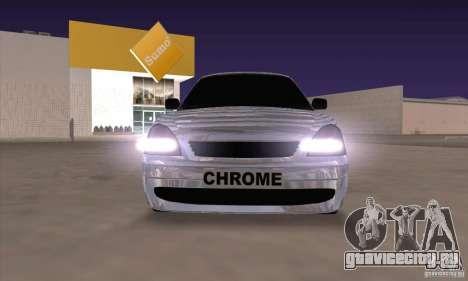 ВАЗ 2170 Chrome для GTA San Andreas вид слева