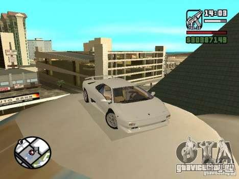 Lamborghini Diablo VT 1995 V2.0 для GTA San Andreas вид сзади
