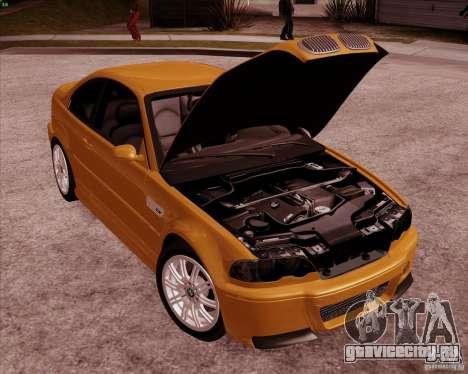 BMW M3 E46 stock для GTA San Andreas вид сверху