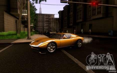 Lamborghini Miura Concept для GTA San Andreas вид сзади слева