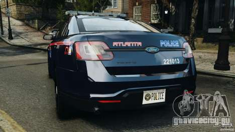 Ford Taurus 2010 Atlanta Police [ELS] для GTA 4 вид сзади слева