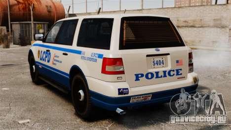 Полицейский Landstalker ELS для GTA 4 вид сзади слева