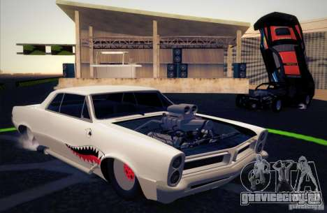 Pontiac GTO Drag Shark для GTA San Andreas вид изнутри