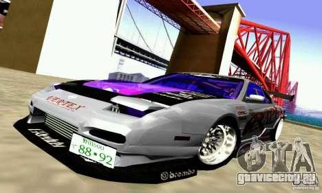 Nissan 150SX Drift для GTA San Andreas вид изнутри