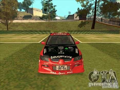 Mitsubishi Evo 9 Touge Union для GTA San Andreas вид сзади