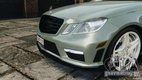 Mercedes-Benz E63 AMG для GTA 4 вид снизу