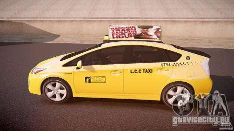 Toyota Prius LCC Taxi 2011 для GTA 4 вид слева