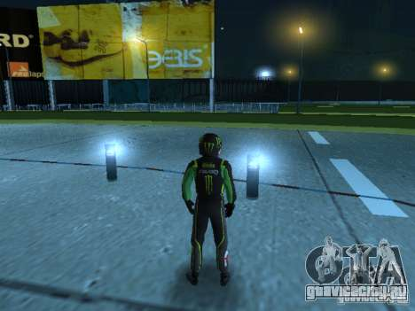 Falken Monster Energy PED для GTA San Andreas второй скриншот