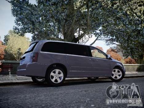 Dodge Grand Caravan SXT 2008 для GTA 4 вид справа
