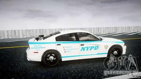 Dodge Charger NYPD 2012 [ELS] для GTA 4 вид изнутри