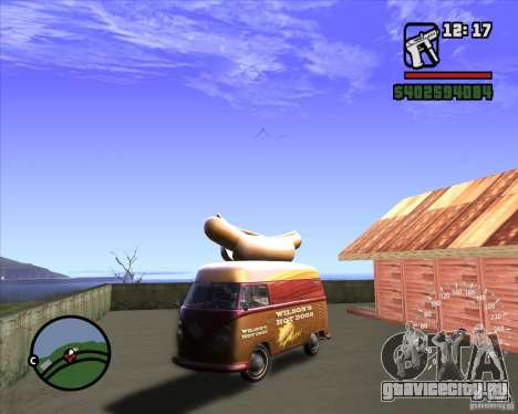 Volkswagen Transporter T1 Hot Dog для GTA San Andreas