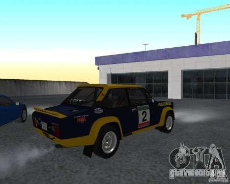 Fiat 131 Rally для GTA San Andreas вид сзади слева