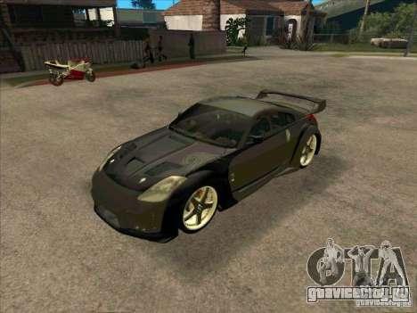 Nissan 350Z DK from FnF 3 для GTA San Andreas вид слева
