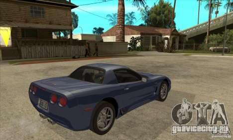 Chevrolet Corvette 5 для GTA San Andreas колёса