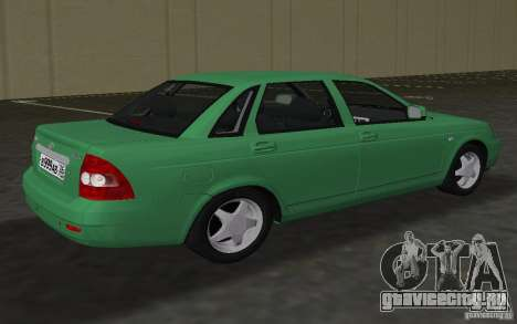 Lada 2170 Priora для GTA Vice City вид сзади