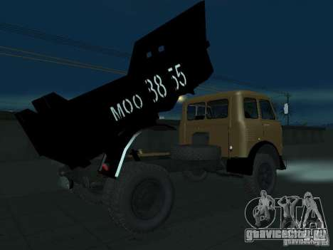 МАЗ 503а Самосвал для GTA San Andreas вид справа