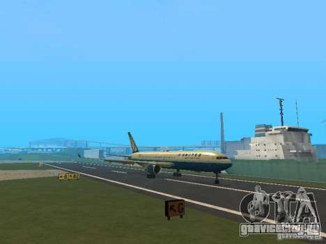 Boeing 767-300 United Airlines New Livery для GTA San Andreas вид слева