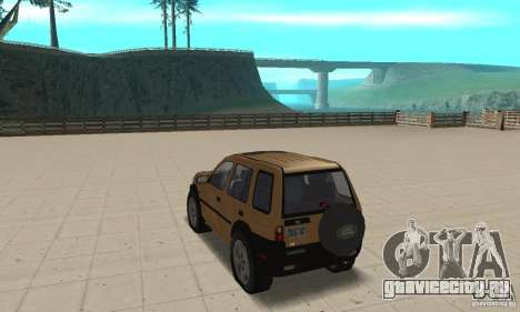Land Rover Freelander KV6 для GTA San Andreas вид сзади слева