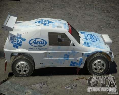 Mitsubishi Pajero Proto Dakar EK86 винил 3 для GTA 4 вид изнутри