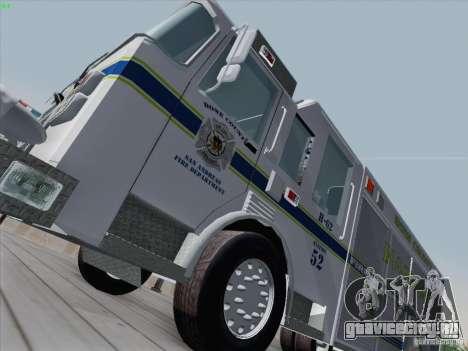 Pierce Fire Rescues. Bone County Hazmat для GTA San Andreas вид слева