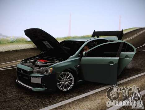 Mitsubishi Lancer Evolution Drift Edition для GTA San Andreas вид сбоку