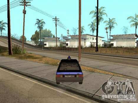 АЗЛК 21418 Патруль для GTA San Andreas вид сзади слева