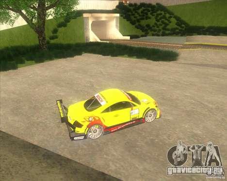 Audi TTR DTM racing car для GTA San Andreas вид слева