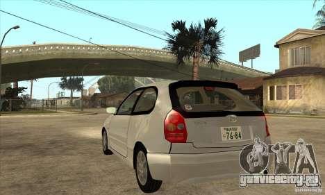 Toyota Corolla G6 Compact E110 JP для GTA San Andreas вид сзади слева