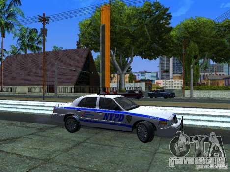 Ford Crown Victoria 2009 New York Police для GTA San Andreas вид слева