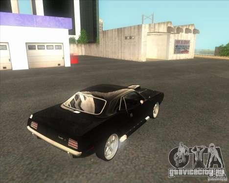 Plymouth Barracuda для GTA San Andreas вид сзади слева