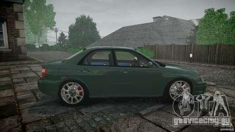 Subaru Impreza v2 для GTA 4 вид сверху