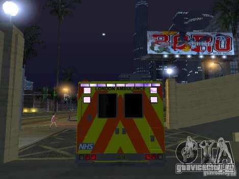London Ambulance для GTA San Andreas вид изнутри