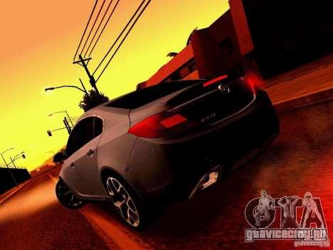 Opel Insignia для GTA San Andreas вид сбоку