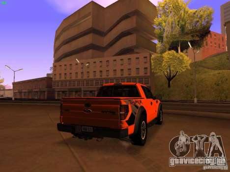 Ford F-150 SVT Raptor 2009 Final для GTA San Andreas вид сзади слева