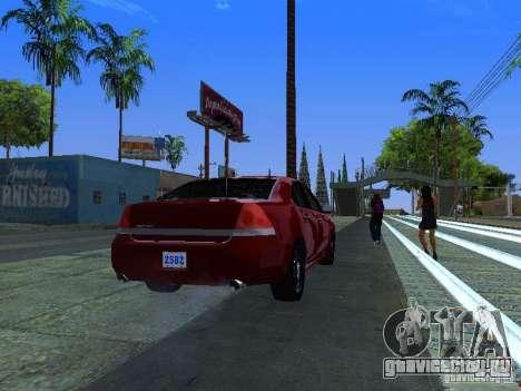 Chevrolet Impala Unmarked для GTA San Andreas вид изнутри
