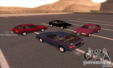 Isuzu Piazza для GTA San Andreas вид справа
