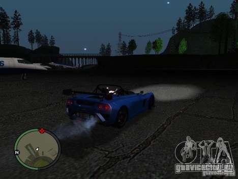 Lotus 2-Eleven 2009 для GTA San Andreas вид справа