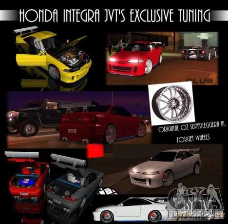 Honda Integra TUNING для GTA San Andreas