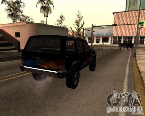 Jeep Cherokee для GTA San Andreas вид сбоку