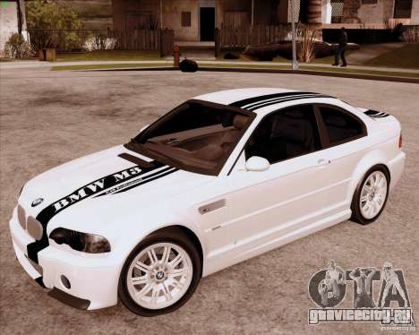 BMW M3 E46 stock для GTA San Andreas вид слева