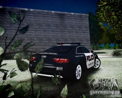 Audi S5 Police для GTA 4 вид слева