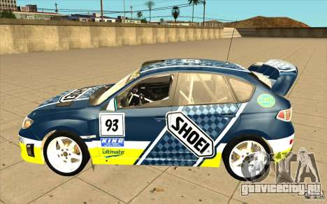Новые винилы к Subaru Impreza WRX STi для GTA San Andreas вид снизу
