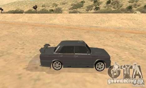ВАЗ 2105 Night Hunter для GTA San Andreas вид сзади слева