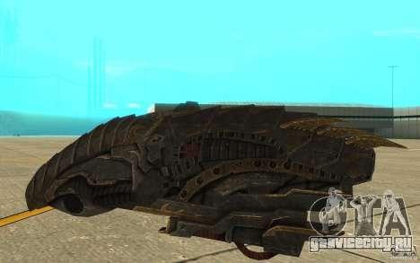 Звездолёт Predator из игры Aliens vs Predator 3 для GTA San Andreas вид сзади слева