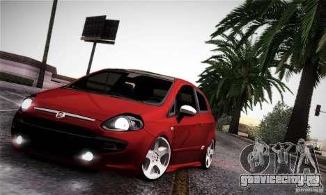 Fiat Punto Evo 2010 Edit для GTA San Andreas вид изнутри