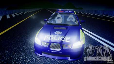 Subaru Impreza WRX Police [ELS] для GTA 4 салон