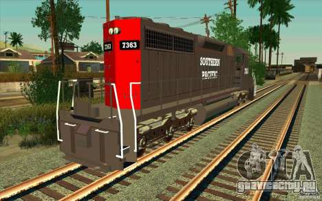 Southern Pacific SD 40 для GTA San Andreas вид сзади слева