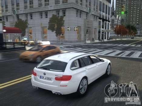 BMW M5 F11 Touring V.2.0 для GTA 4 вид сзади