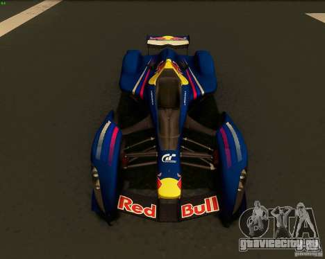 X2010 Red Bull для GTA San Andreas вид справа